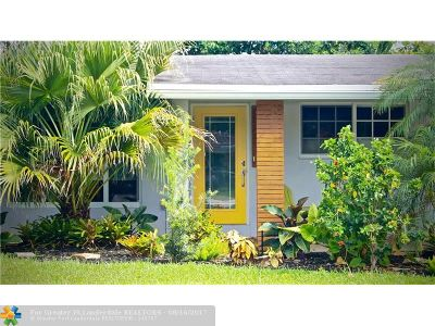 Oakland Park Single Family Home For Sale: 740 NW 37th St