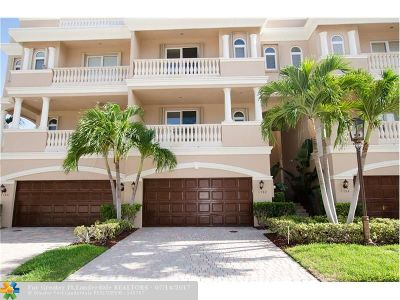 Pompano Beach Condo/Townhouse For Sale: 1782 Bay Dr #1782