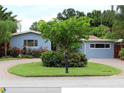 Wilton Manors Single Family Home For Sale: 114 NE 29th St