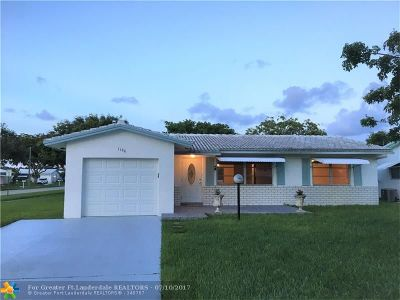 Plantation Single Family Home Backup Contract-Call LA: 1190 NW 89th Way