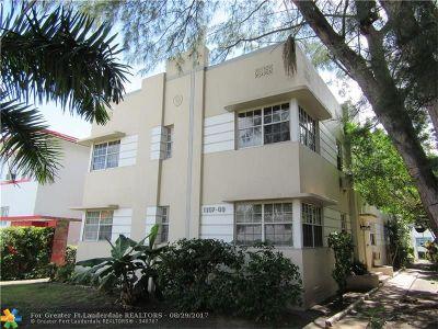 Miami Beach Condo/Townhouse For Sale: 1309 Euclid Ave #6