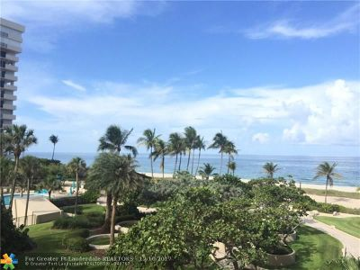 Lauderdale By The Sea Condo/Townhouse For Sale: 5000 N Ocean Blvd #310