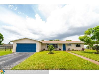 Margate Single Family Home For Sale: 6680 SW 3rd St