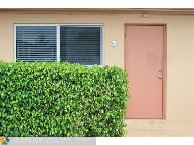 Pompano Beach Condo/Townhouse For Sale: 301 E McNab Rd #103