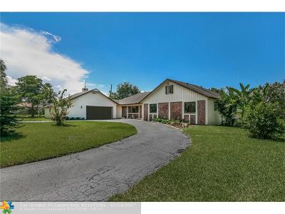 Cooper City Single Family Home For Sale: 9901 NW 35th St