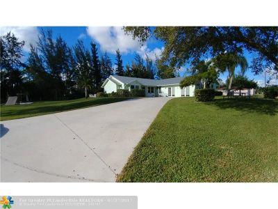 Loxahatchee Single Family Home Backup Contract-Call LA: 14155 77th Pl N