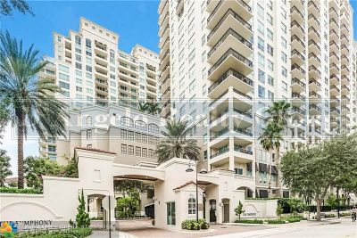 Fort Lauderdale Condo/Townhouse For Sale: 610 W Las Olas Blvd #821N