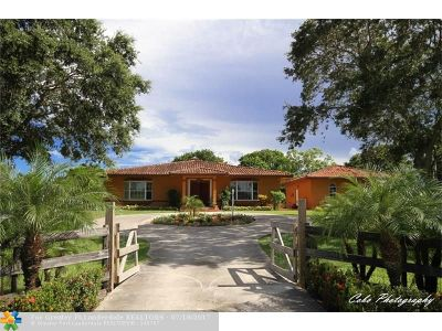 Southwest Ranches Single Family Home For Sale: 18000 SW 50th St