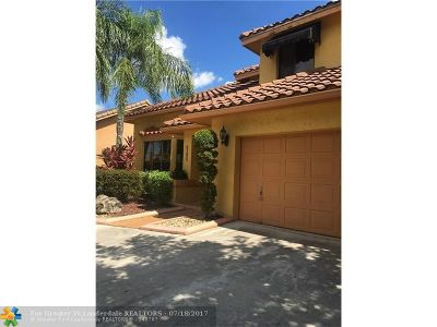 Coral Springs Single Family Home Sold: 6285 NW 52nd St