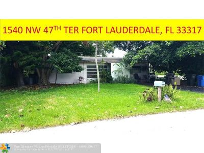 Fort Lauderdale Single Family Home For Sale: 1540 SW 47th Ter
