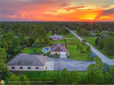 Loxahatchee Single Family Home For Sale: 14860 86th Rd N