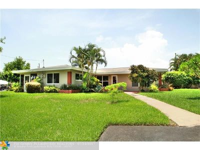Oakland Park Single Family Home Backup Contract-Call LA: 3449 NE 17th Way