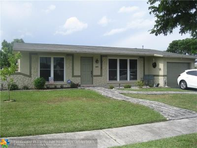 Sunrise Single Family Home Backup Contract-Call LA: 11311 NW 37th Pl