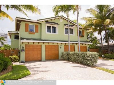 Lauderdale By The Sea Single Family Home For Sale: 4331 W Tradewinds Ave #a