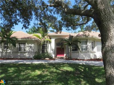 Davie Single Family Home For Sale: 4100 SW 101st Ave