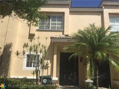 Coconut Creek Condo/Townhouse For Sale: 4819 NW 58th Mnr #4819