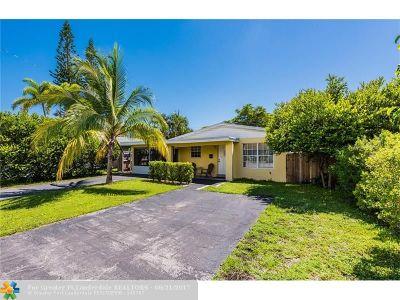 Oakland Park Single Family Home For Sale: 3030 NE 13th Ave