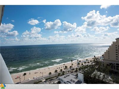 Fort Lauderdale Condo/Townhouse For Sale: 701 N Fort Lauderdale Beach Blvd #1101