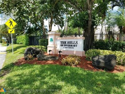 Lauderhill Condo/Townhouse For Sale: 3419 Lime Hill Rd #166