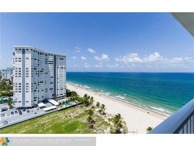 Pompano Beach Condo/Townhouse For Sale: 1360 S Ocean Blvd #1706
