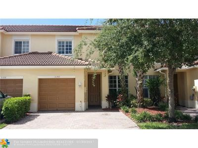 Oakland Park Condo/Townhouse For Sale: 3192 NW 32nd Ct #3192