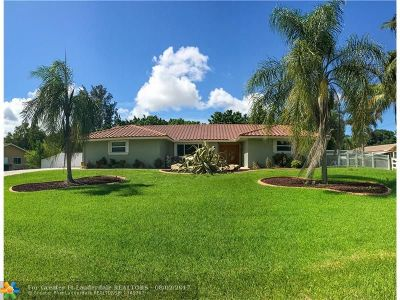 Cooper City Single Family Home For Sale: 10010 NW 35 St