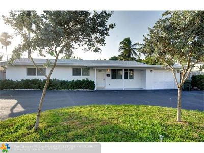 Oakland Park Single Family Home For Sale: 3045 NE 16th Ave