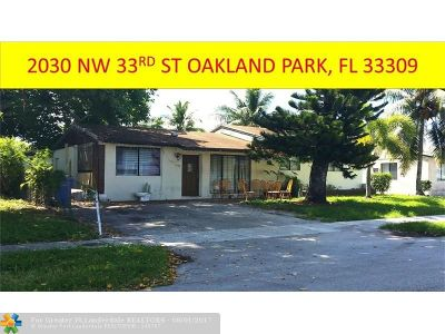 Oakland Park Multi Family Home Backup Contract-Call LA: 2030 NW 33rd St