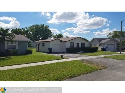 North Lauderdale Single Family Home For Sale: 7304 SW 5th Ct