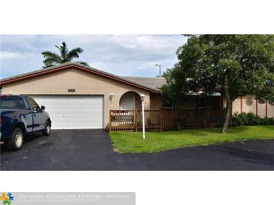 Coral Springs Single Family Home Backup Contract-Call LA: 1865 NW 85th Ln