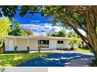 Pompano Beach Single Family Home For Sale: 1320 NE 25th Ave