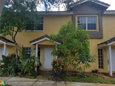 Broward County Condo/Townhouse For Sale: 6710 Sienna Club Dr #6710
