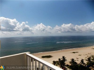 Pompano Beach Condo/Townhouse For Sale: 750 N Ocean Blvd #1604