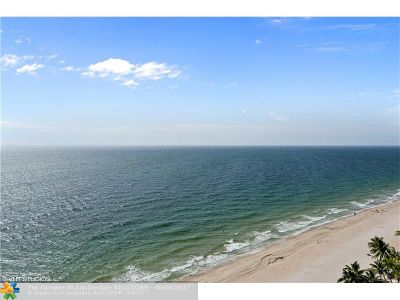 Fort Lauderdale Condo/Townhouse For Sale: 4300 N Ocean Blvd #16N