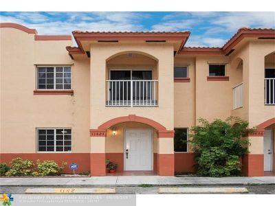 Hialeah Condo/Townhouse For Sale: 11424 W Okeechobee Rd #11424