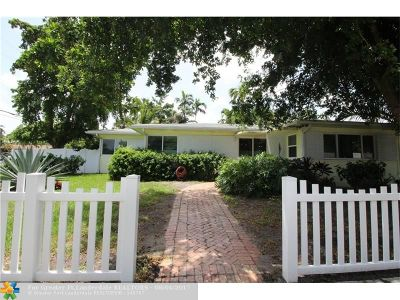 Dania Single Family Home For Sale: 406 SE 2nd Ave