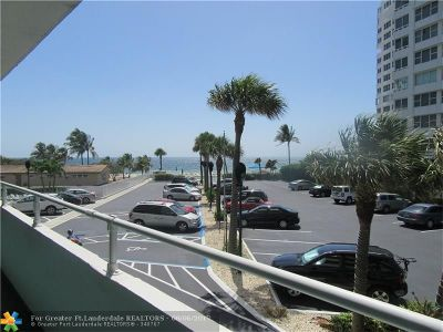 Lauderdale By The Sea Condo/Townhouse For Sale: 4050 N Ocean Dr #202
