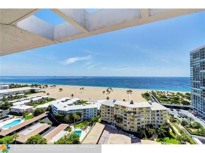 Fort Lauderdale Condo/Townhouse For Sale: 1920 S Ocean Dr #1701