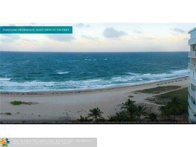 Pompano Beach Condo/Townhouse For Sale: 730 N Ocean Blvd #1205