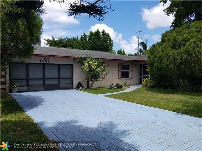 Plantation Single Family Home For Sale: 4857 NW 9th St