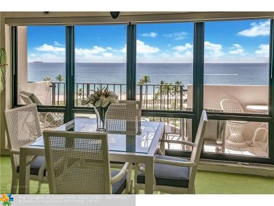 Lauderdale By The Sea Condo/Townhouse For Sale: 5100 N Ocean Blvd #817