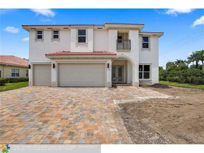 Davie Single Family Home For Sale: 7600 Cavalia Dr