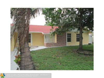 Margate Single Family Home For Sale: 6291 SW 7th Ct