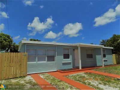 Pompano Beach Single Family Home For Sale: 1765 NE 50th St