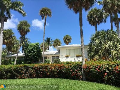 Lighthouse Point Single Family Home For Sale: 2780 NE 26th Ave