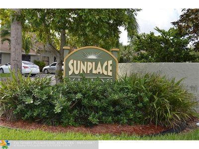 Sunrise Condo/Townhouse For Sale: 7638 NW 38th Ct #7638
