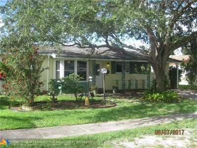 Margate Single Family Home For Sale: 6810 NW 8th Ct