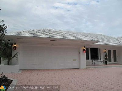 Fort Lauderdale Single Family Home For Sale: 31 Bay Colony Dr