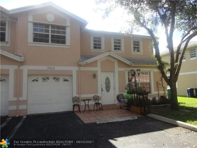 Cooper City Condo/Townhouse For Sale: 5012 SW 121st Ave #5012