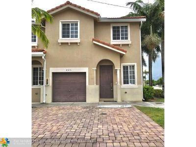 Miami Gardens Condo/Townhouse For Sale: 21001 NW 14 Pl #445